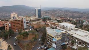 Vue de la ville de Kigali, au Rwanda.