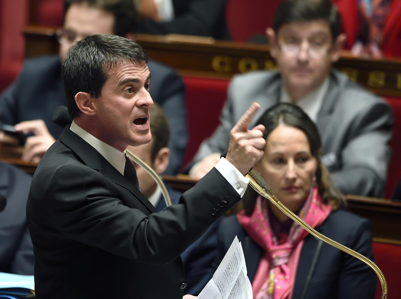 Le Premier ministre Manuel Valls a ravivé les tensions au sein du Parti socialiste en appelant, dans une interview, à en finir avec la gauche «passéiste». Ici, le 22 octobre 2014, à l'Assemblée Nationale.