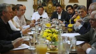 Reunião da comissão de chanceleres da Unasul (União de Nações Sul-Americanas) em Caracas.