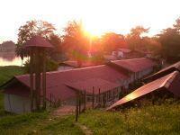 L'hôpital fondé par Albert Schweitzer à Lambaréné, au Gabon.