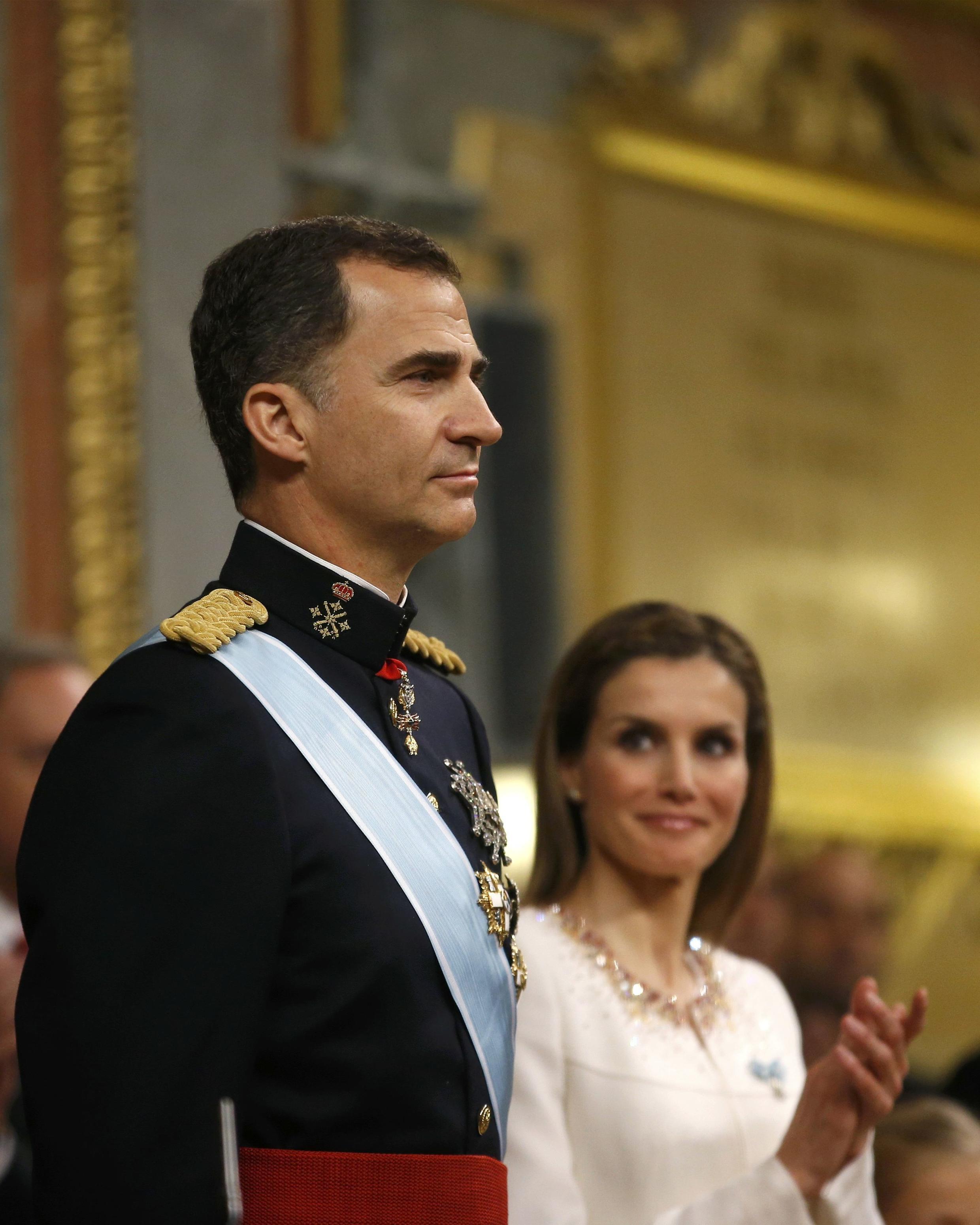 Sarki Felipe na Spain tare da sarauniyarsa Letizia