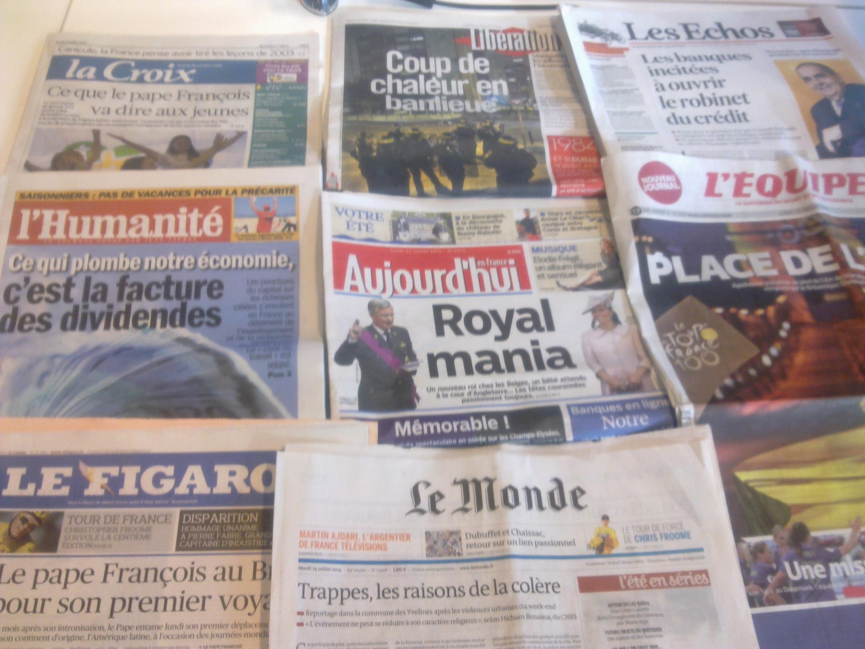 Diários franceses  22/07/2013
