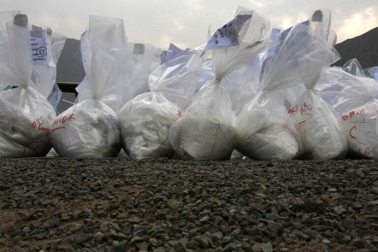 Bags of cocaine seized in Lima in 2009