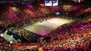 Palco do torneio de ténis Paris-Bercy