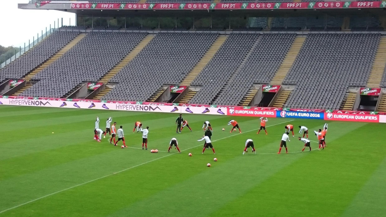 Treino em Braga da selecção portuguesa de futebol