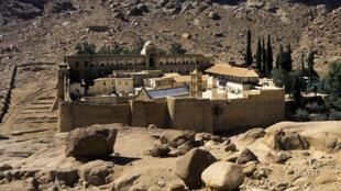 Le Monastère Sainte-Catherine, dans le Sinaï, en Egypte.