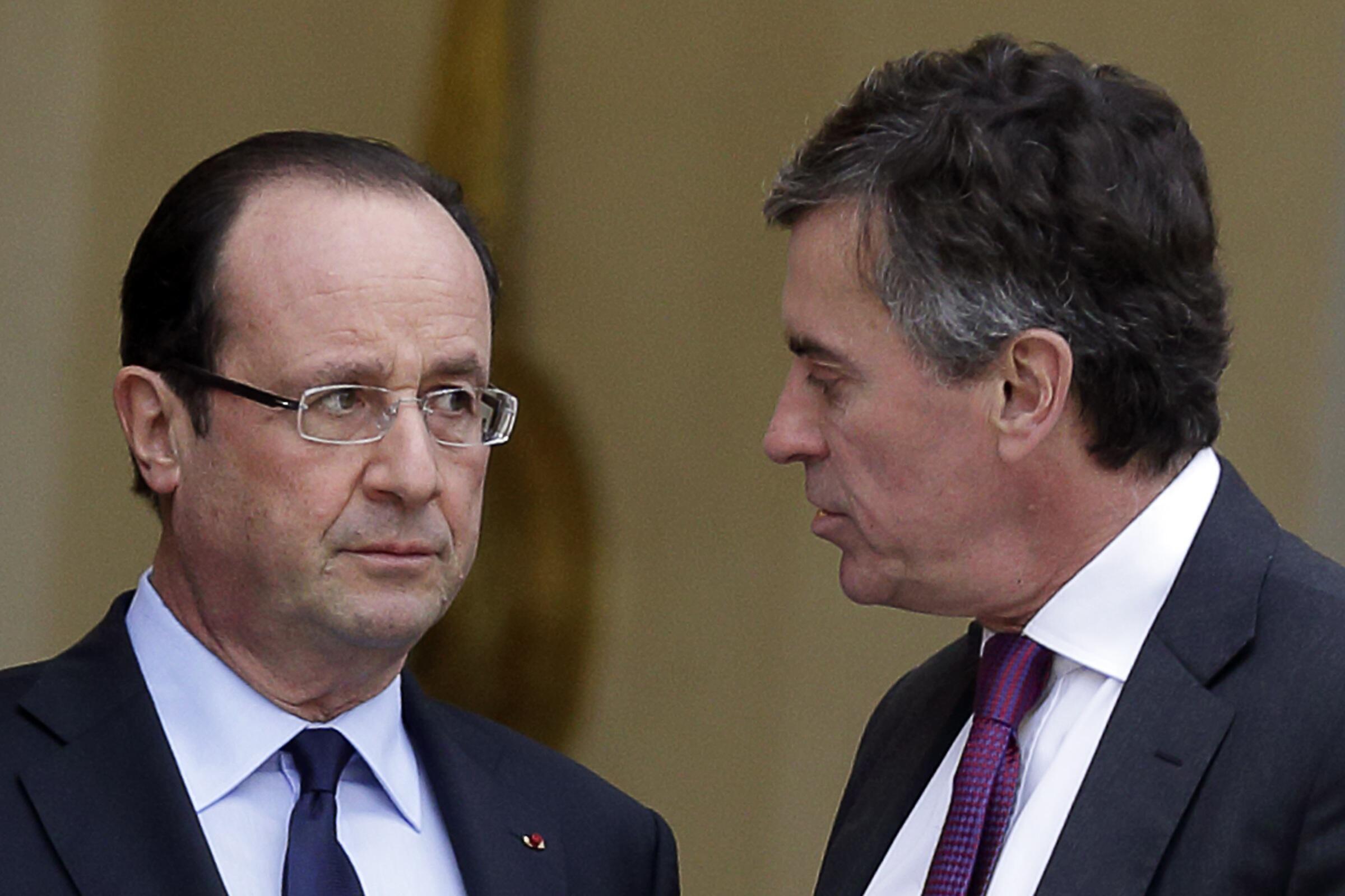 François Hollande desea erradicar los paraísos fiscales en Europa. Aquí con Jérôme Cahuzac.
