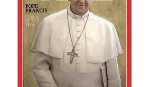 Обложка итогового номера 2013 г. журнала The Time, где Папа Франциск признан человеком года. 11/12/2013