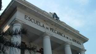 Fachada de la Escuela de Mécanica de la Armada, en la que trabajó Mario Sandoval.