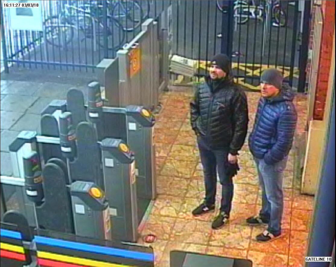 Александр Петров и Руслан Боширов в Солсбери, 3 марта 2018.