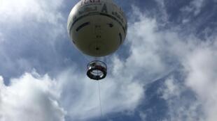Balão sobe a 150 metros, com até 30 passageiros a bordo.