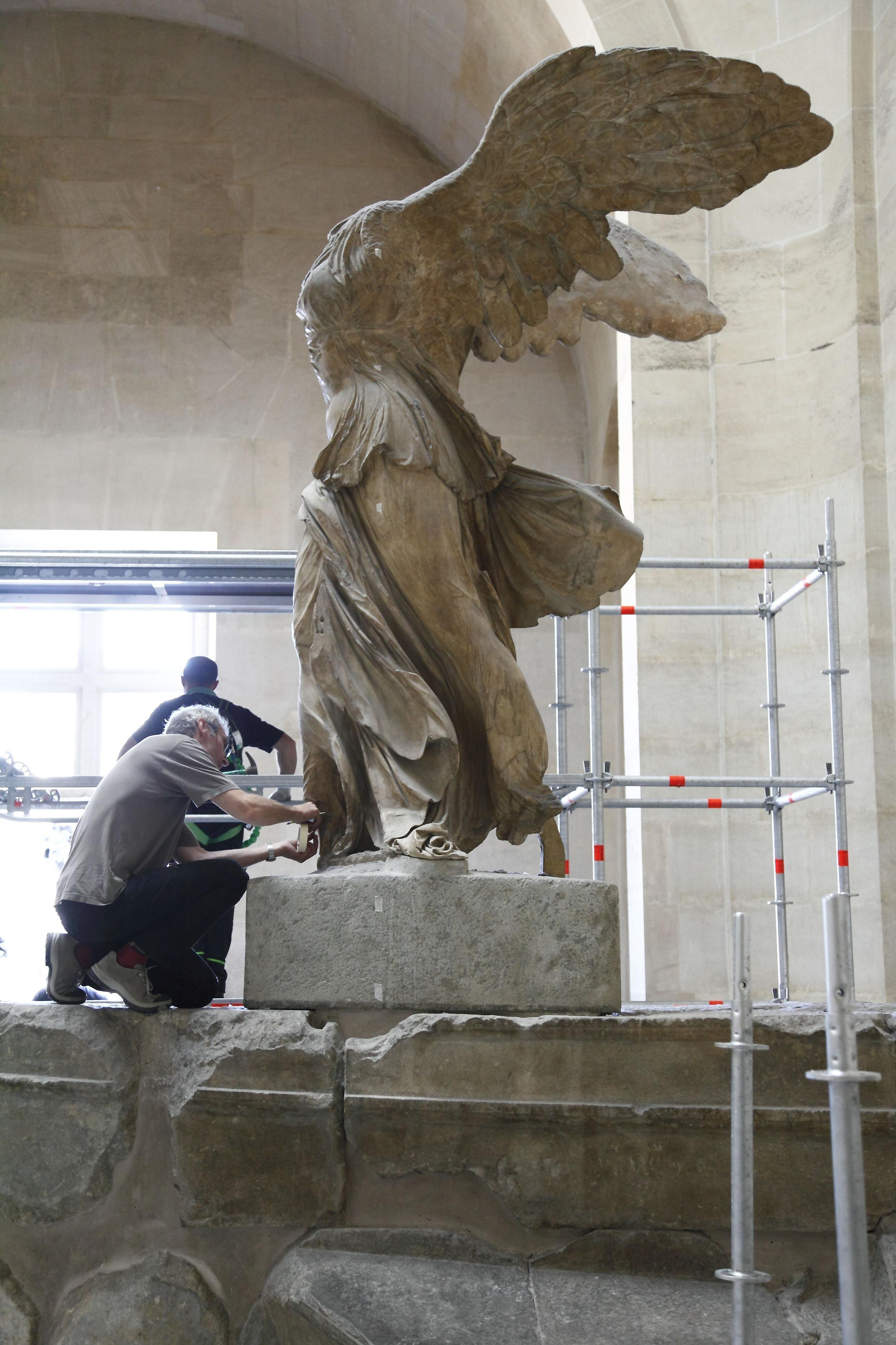 The Winged Vivtory of Samothrace is one of the Louvre's best-known works