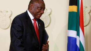 Le président sud-africain Cyril Ramaphosa.