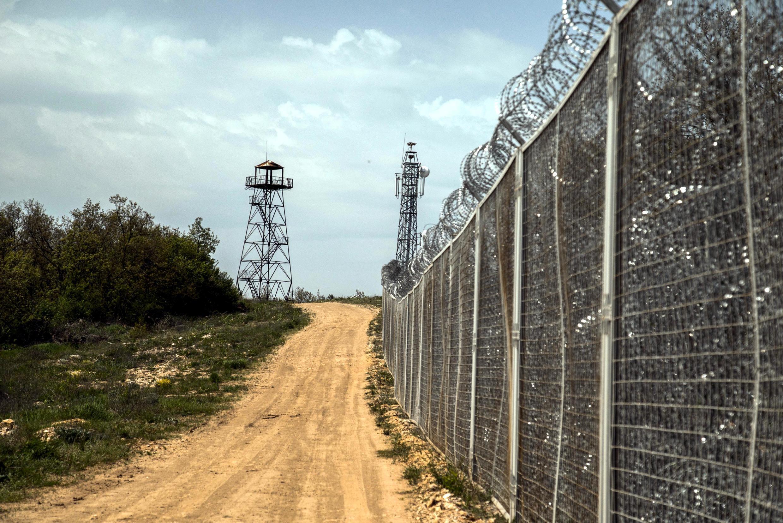 Une partie des 33 kilomètres de frontière barbelée qui sépare la Bulgarie de la Turquie.
