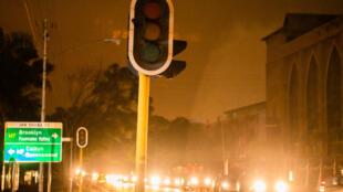 Une coupure d'électricité à Prétoria en Afrique du Sud le 13 février 2019.