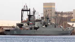 La frégate iranienne «Alvand» dans le port de Port-Soudan (Soudan), sur la mer Rouge, le 6 mai 2014.