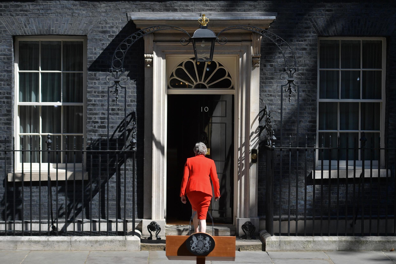 Primeira-ministra britânica, Theresa May, no dia em que anunciou a sua demissão, a 24 de Maio de 2019.