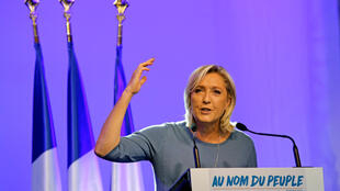 La présidente du Front national Marine Le Pen à Fréjus, le 18 septembre 2016.