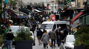 Một góc phố Montorgueil, Paris, trong ngàyt đầu tiên của đợt phong tỏa lần hai chống dịch Covid-19, Pháp, ngày 30/10/2020.