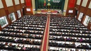 Toàn cảnh Quốc hội Việt Nam trong phiên khai mạc kỳ họp đầu năm ngày 20/5/2013.