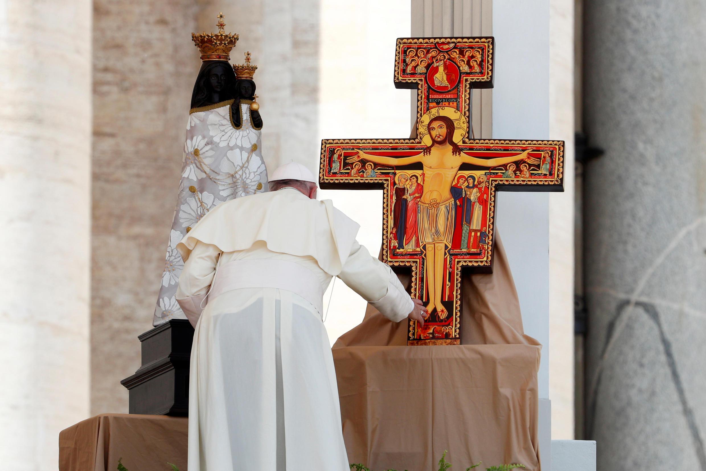 Папа Франциск I в соборе Святого Петра в Ватикане, август 2018.
