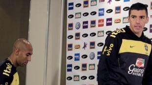 O zagueiro e capitão Lúcio da seleção brasileira.