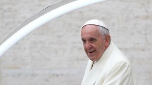 Giáo hoàng Phanxicô tại quảng trường Thánh Phe-rô, Roma, ngày 31/01/2018