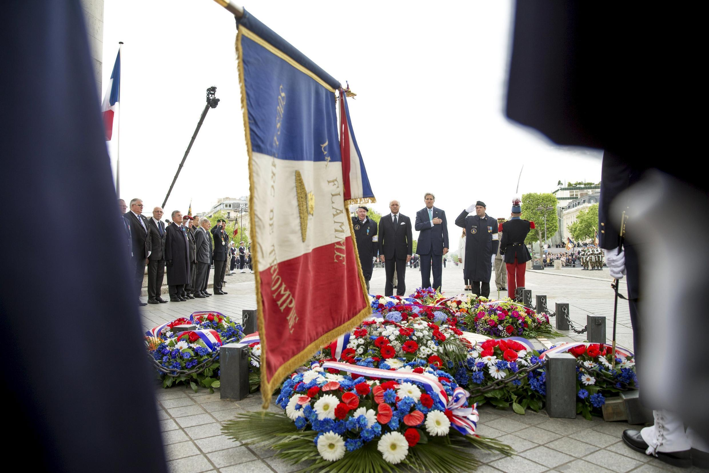 Ceremony marking France's 70th anniversary of the allied victory over Nazi Germany, Paris, 8 May 2015.