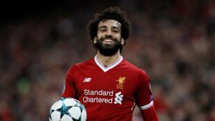 Sabon gwarzon nahiyar Afrika, dan wasan kasar Masar Mohamed Salah, wanda ke bugawa kungiyar kwallon kafa ta Liverpool da ke Ingila..