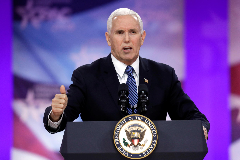 Phó tổng thống Mỹ Mike Pence nhân Hội nghị thường niên của đảng Cộng Hòa. Ảnh ngày 01/03/ 2019.