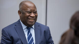 Former Ivorian  president Laurent Gbagbo,on January 15, 2019 after his acquittal at the ICC