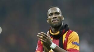 L'Ivoirien Didier Drogba sous les couleurs de Galatasaray.