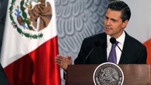 Enrique Peña Nieto, président du Mexique.