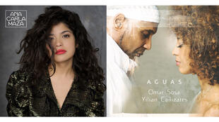 Ana Carla Maza cover Alma (Sarasvati Music) et Omar Sosa et Yilian Canizares cover Aguas (photo Franck Socha).