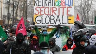 Manifestation contre la loi sécurité globale