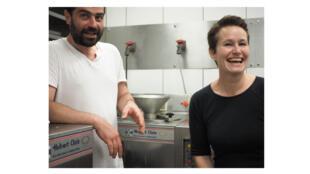 Lionel Chauvin et Clémence Denavit.