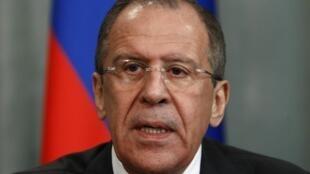 Le ministre russe des Affaires étrangères Sergueï Lavrov, le 15 avril 2013.