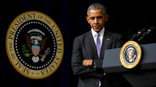 El presidente saliente de Estados Unidos Barack Obama, el 13 de diciembre de 2016 en Washington.