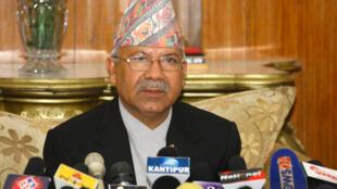 Former Nepalese Prime Minister Nepal Madhav Kumar who resigned Wednesday