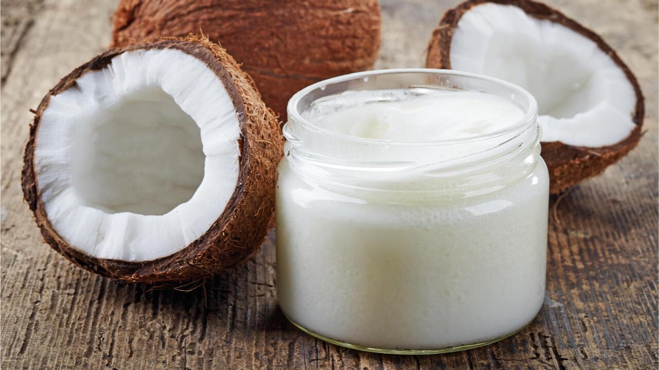 illustration noix de coco - crème de coco