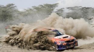 Lors de l'édition 2016 du Safari Rally du Kenya.