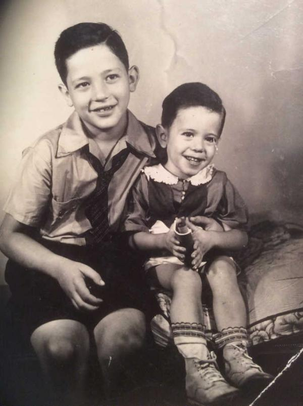 Larry and Bernie Sanders as children growing up in Brooklyn, NYC