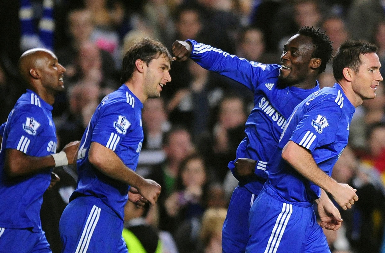 Le Ghanéen Michael Essien, buteur avec Chelsea.
