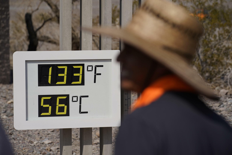 vague de chaleur aux Etats-Unis, vallée de la Mort, Californie