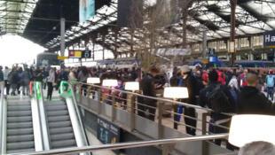 Ambiente de huelga en la estación de Lyon, París, 3 de abril de 2018.