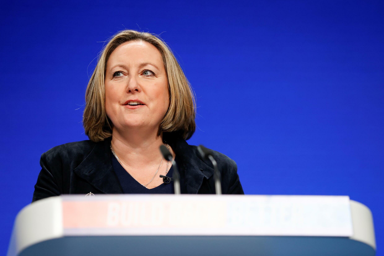 英國國際貿易大臣安妮-瑪麗•特里威廉資料圖片