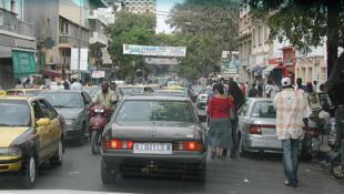 Une rue de Dakar.