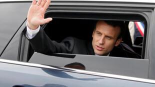 O presidente francês, Emmanuel Macron, em 9 de abril de 2018.
