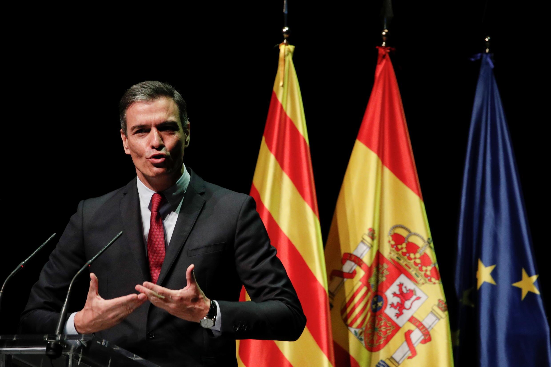 Le Premier ministre espagnol Pedro Sanchez au Gran Teatre del Liceu, à Barcelone, en Espagne, le 21 juin 2021.