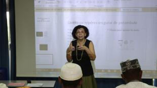 Un cours donné aux cadis au centre universitaire de Mayotte.